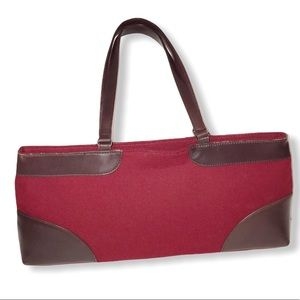 Banana Republic purse Red Brown leather